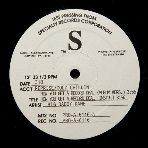"Big Daddy Kane - How U Get A Record Deal, 12"", Test Pressing"