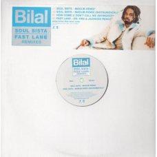 """Bilal - Soul Sista / Fast Lane Remixes, 12"""", Promo"""