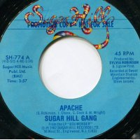 "Sugar Hill Gang - Apache, 7"", Promo"