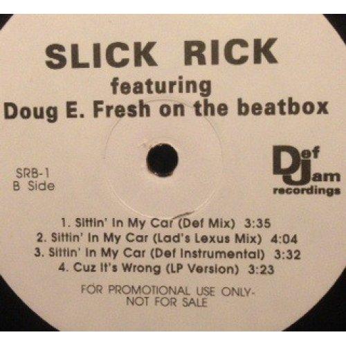 """Slick Rick - Sittin' In My Car, 12"""", Promo"""