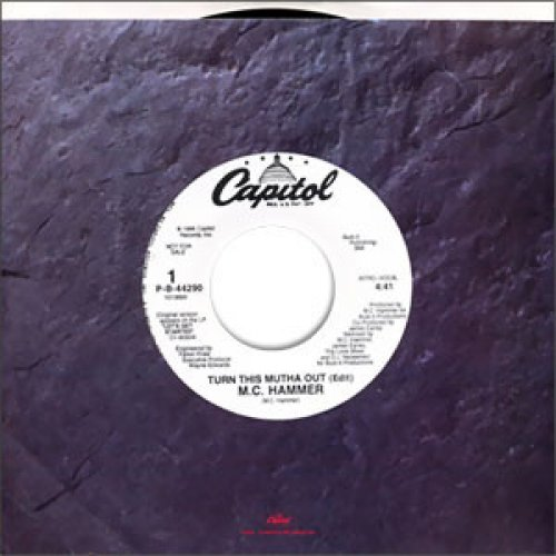 """M.C. Hammer - Turn This Mutha Out, 7"""", Promo"""