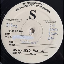 """Triflicts - Genuine / Don't Make Me Try , 12"""", Test Pressing"""