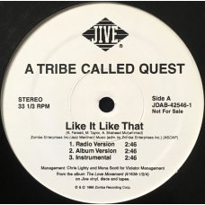 "A Tribe Called Quest - Like It Like That, 12"", Promo"