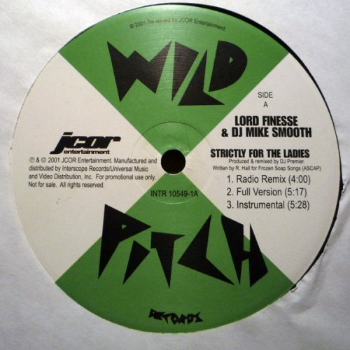 """Lord Finesse & DJ Mike Smooth - Strictly For The Ladies / Back To Back Rhyming, 12"""", Reissue"""