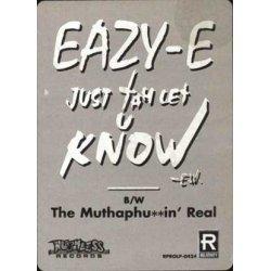 "Eazy-E - Just Tah Let U Know, 12"", Promo"