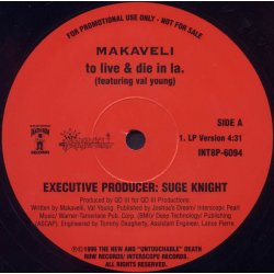 """Makaveli - To Live & Die In L.A., 12"""", Promo"""