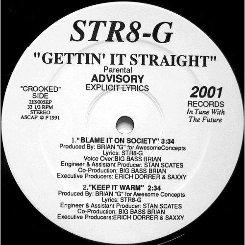 "Str8-G - Gettin' It Straight, 12"", EP"