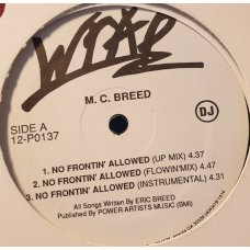 MC Breed - No Frontin' Allowed, 12""