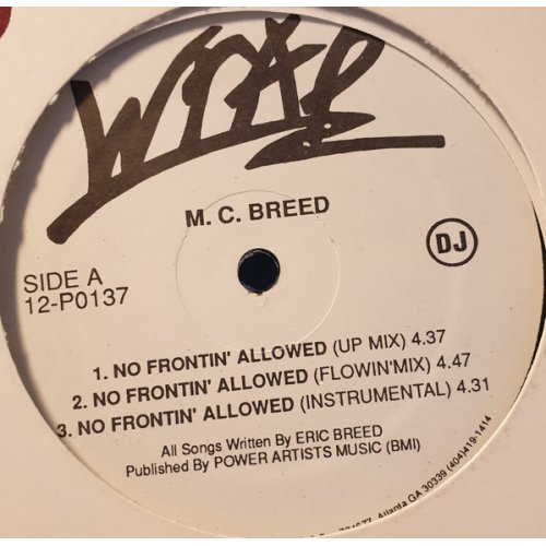 """MC Breed - No Frontin' Allowed, 12"""""""