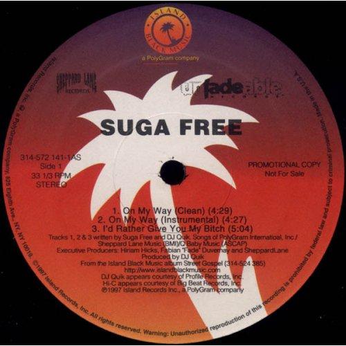 "Suga Free - On My Way, 12"", Promo"