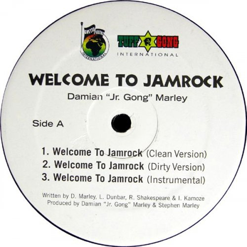 "Damian ""Jr. Gong"" Marley - Welcome To Jamrock / Lyrical .44 (Dancehall Remix), 12"""
