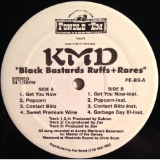 "KMD - Black Bastards Ruffs+Rares, 12"", EP"