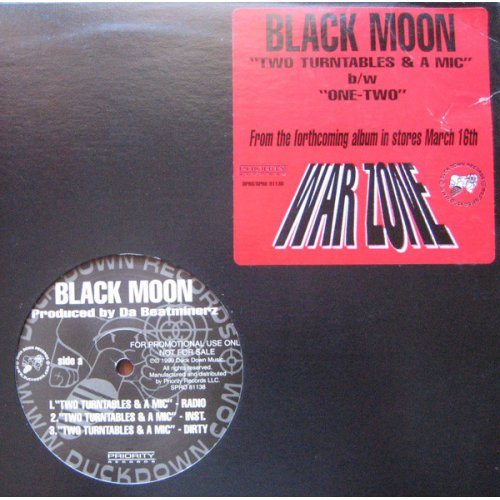 "Black Moon - Two Turntables & A Mic, 12"", Promo"