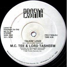 "M.C. Tee & Lord Tasheem - Talkin' Loud, 12"", Promo"