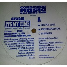 """Atorie - It's My Time, 12"""""""