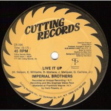 """Imperial Brothers - Live It Up, 12"""""""