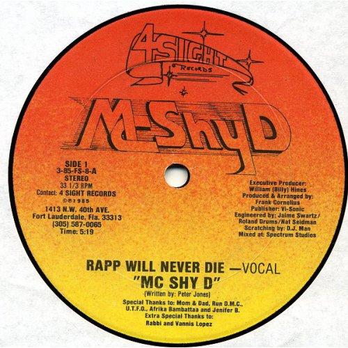"MC Shy D - Rapp Will Never Die, 12"""