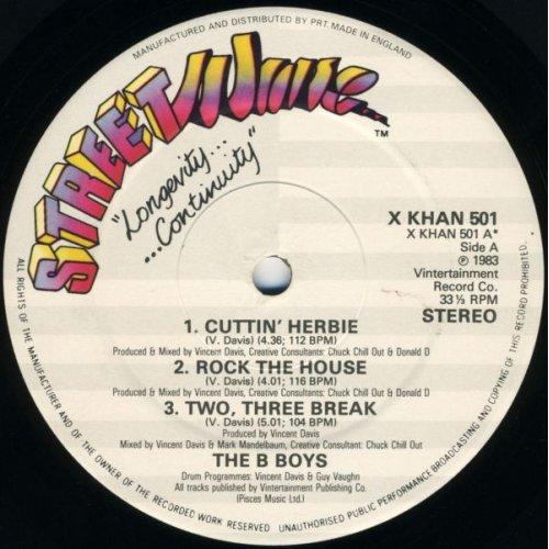 "The B-Boys - Cuttin' Herbie / Two Three Break, 12"""