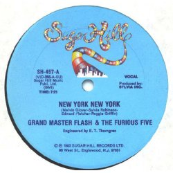 "Grandmaster Flash & The Furious Five - New York New York, 12"""