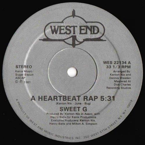 """Sweet G - A Heartbeat Rap, 12"""""""