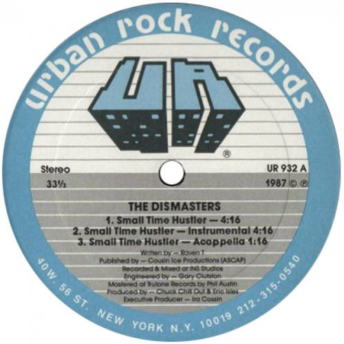 """The Dismasters - Small Time Hustler / You Must Be Crazy (Brutus), 12"""""""