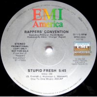 """Rappers' Convention - Stupid Fresh, 12"""", Promo"""