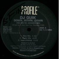 """DJ Quik - Down, Down, Down, 12"""", Promo"""