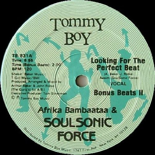 """Afrika Bambaataa & Soulsonic Force - Looking For The Perfect Beat, 12"""", Repress"""