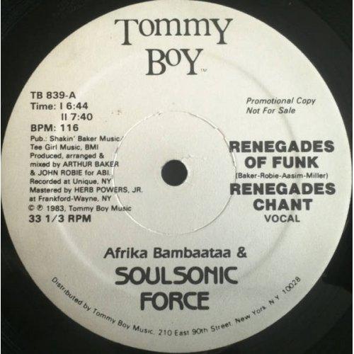 "Afrika Bambaataa & Soulsonic Force - Renegades Of Funk, 12"", Promo"