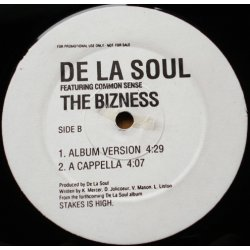 "De La Soul Featuring Common Sense - The Bizness, 12"", Promo"