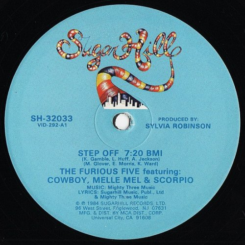 """The Furious Five Featuring Cowboy, Melle Mel & Scorpio - Step Off, 12"""""""