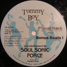 """Afrika Bambaataa & The Soul Sonic Force Music By Planet Patrol - Planet Rock, 12"""", Reissue"""