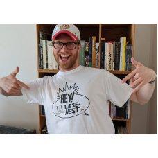 Emilio Hestepis - Hey Ung Læsehest T-Shirt (Hvid)