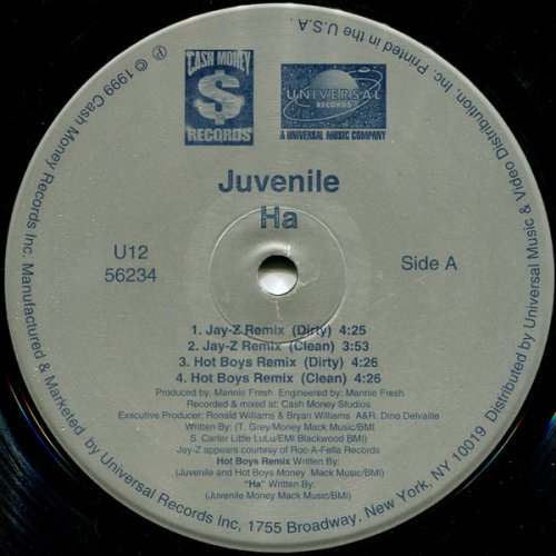 "Juvenile - Ha, 12"""