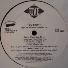 "Too Short - Get In Where You Fit In, 12"", Promo"