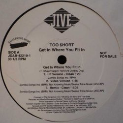 """Too Short - Get In Where You Fit In, 12"""", Promo"""