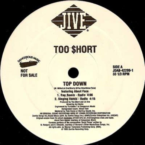 """Too $hort - Top Down, 12"""", Promo"""