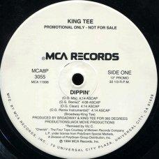 """King Tee - Dippin' / Duck, 12"""", Promo"""