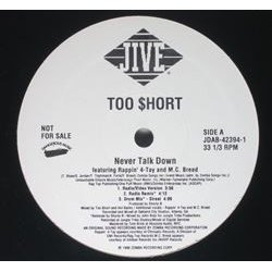 "Too Short - Never Talk Down, 12"", Promo"