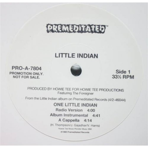 """Little Indian - One Little Indian, 12"""", Promo"""