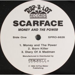 """Scarface - Money And The Power, 12"""", Promo"""