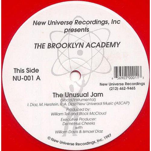 "Brooklyn Academy - The Unusual Jam / Blind Fury (The Tempest), 12"""