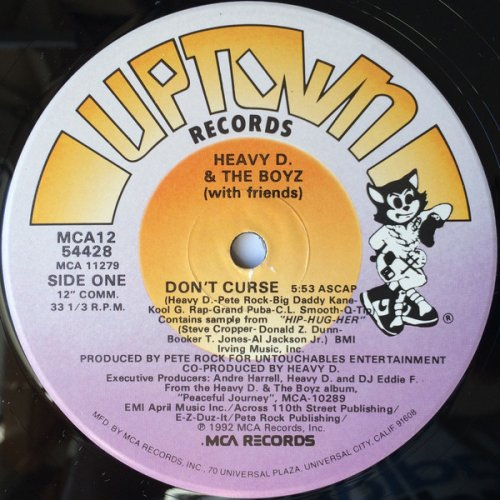 """Heavy D. & The Boyz - Don't Curse / You Can't See What I Can See, 12"""""""