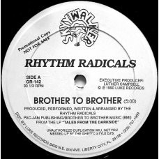 "Rhythm Radicals - Brother To Brother / We're On A Mission, 12"", Promo"