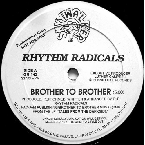 """Rhythm Radicals - Brother To Brother / We're On A Mission, 12"""", Promo"""