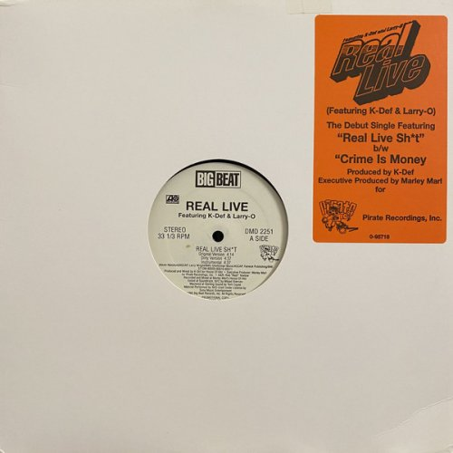 """Real Live - Real Live Sh*t / Crime Is Money, 12"""", Promo"""
