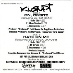 """Kurupt - On, Onsite / Hate On Me, 12"""", Promo"""