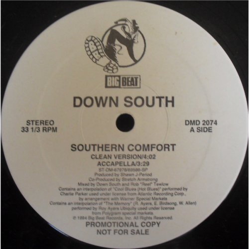 """Down South - Southern Comfort, 12"""", Promo"""