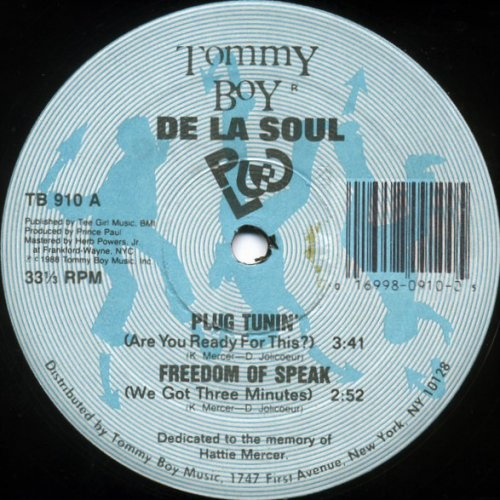 De La Soul - Plug Tunin' / Freedom Of Speak, 12""