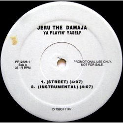 "Jeru The Damaja - Ya Playin' Yaself, 12"", Promo"
